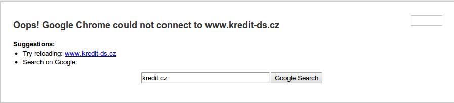 chcete si nabít kredit, přes neexistující web?