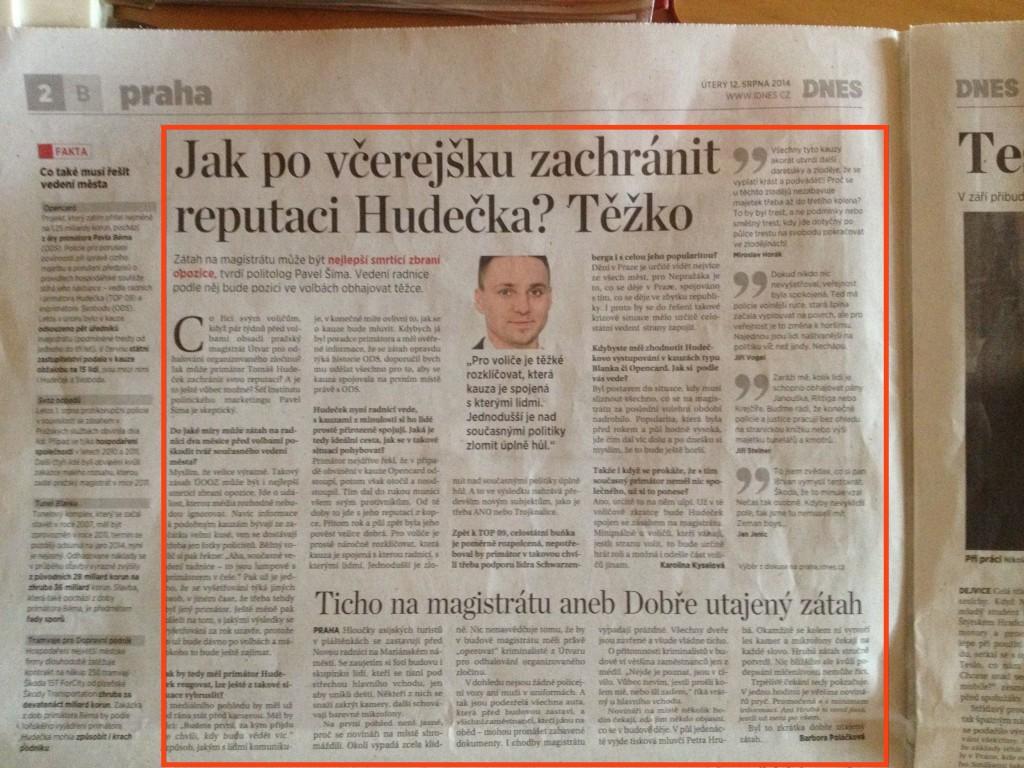 2.strana pražské přílohy