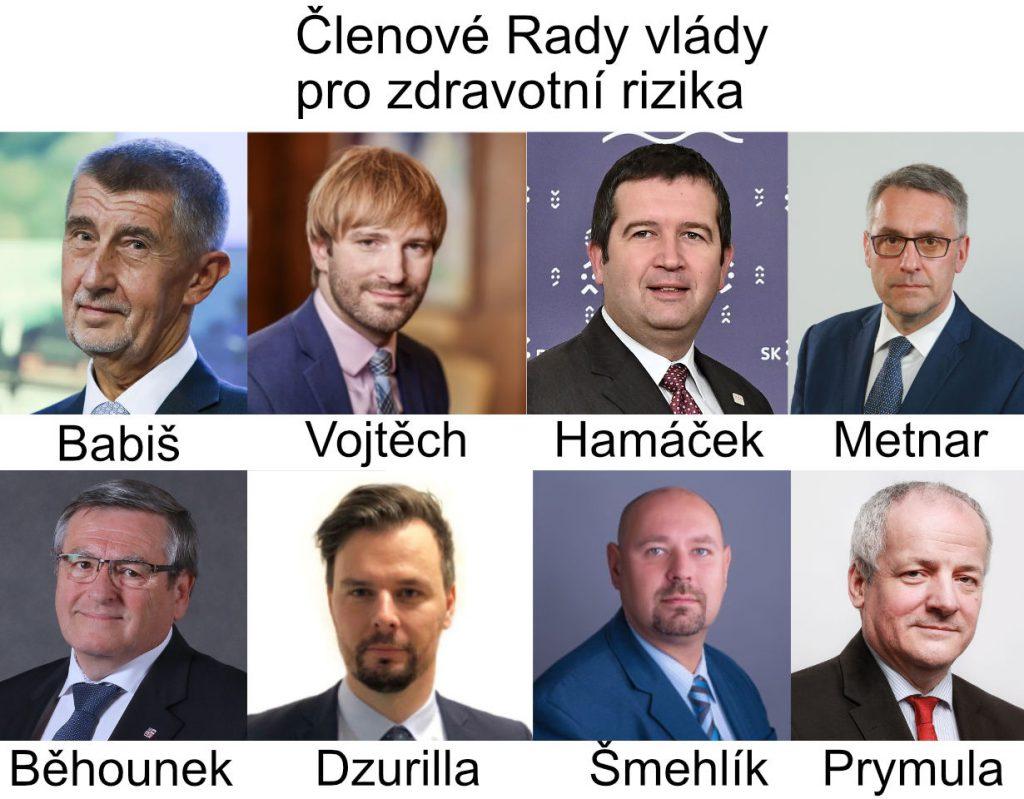 Členové Rady vlády pro zdravotní rizika